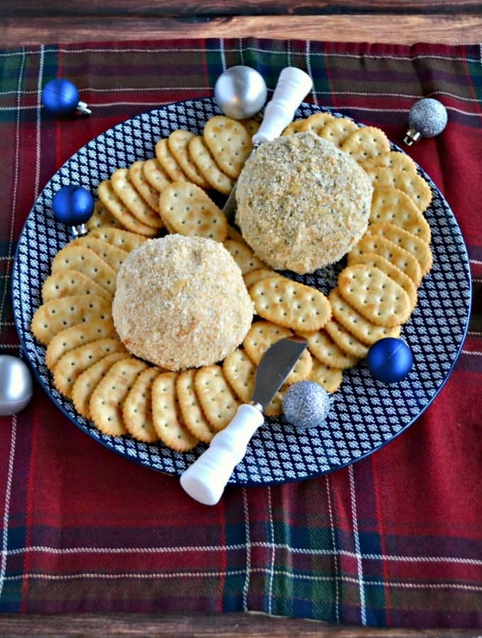 Need a great holiday appetizer? Try my tasty Classic Cheddar Cheese Ball or the Jalapeno Bacon Ranch Cheddar Cheese Ball!