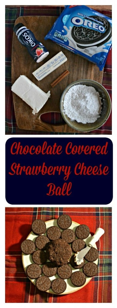 Looking for a sweet appetizer recipe? Try my fun and delicious Chocolate Covered Strawberry Cheese Ball recipe!