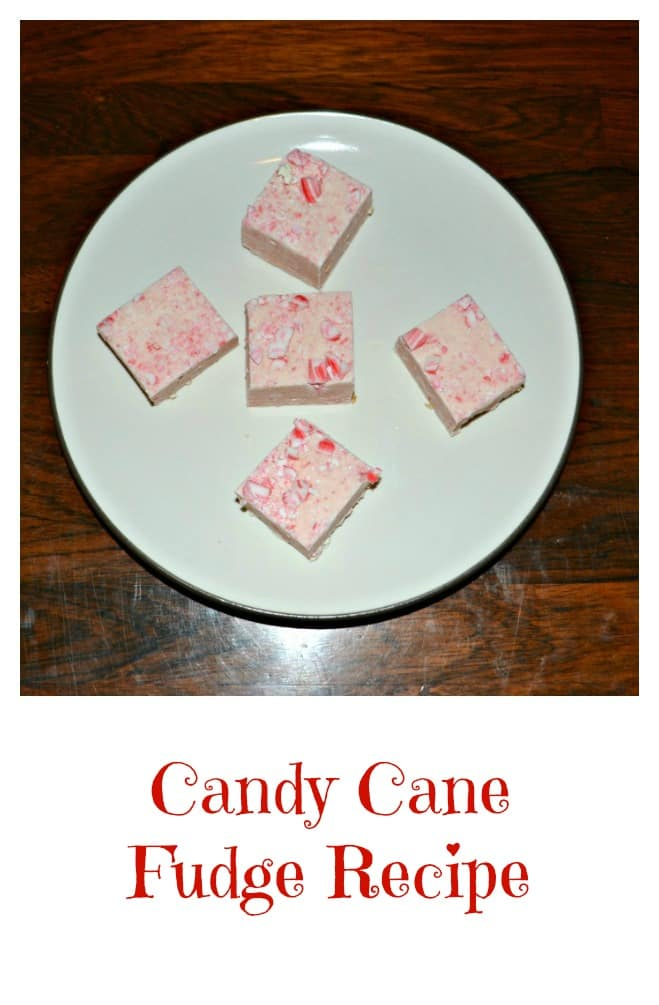 Looking for an easy holiday treat? Try this fun Candy Cane Fudge recipe!