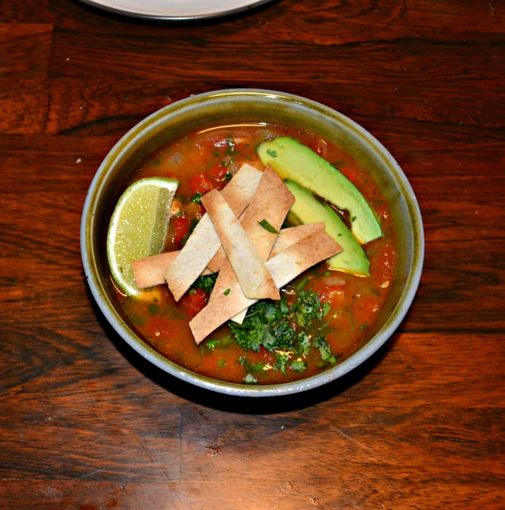 Looking for a delicious soup to warm you up this winter? Try this tasty Chicken Poblano Tortilla Soup!