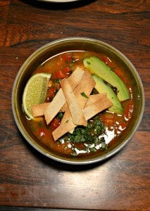 Warm up this winter with a bowl of Chicken Poblano Torilla Soup!