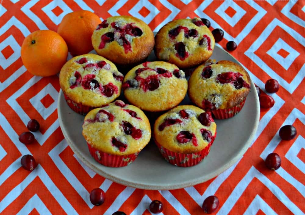 These sweet and tart Cranberry Clementine Muffins are delicious for breakfast or dessert!