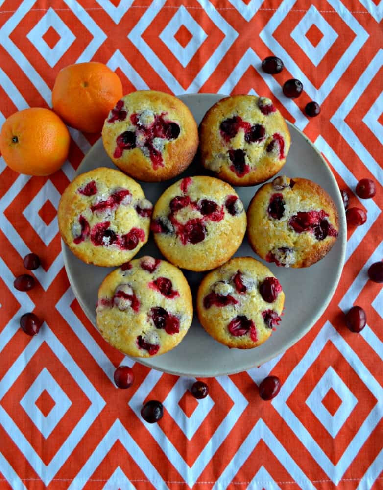 Looking for a delicious breakfast muffin? These sweet and tart Cranberry Clementine Muffins are delicious!