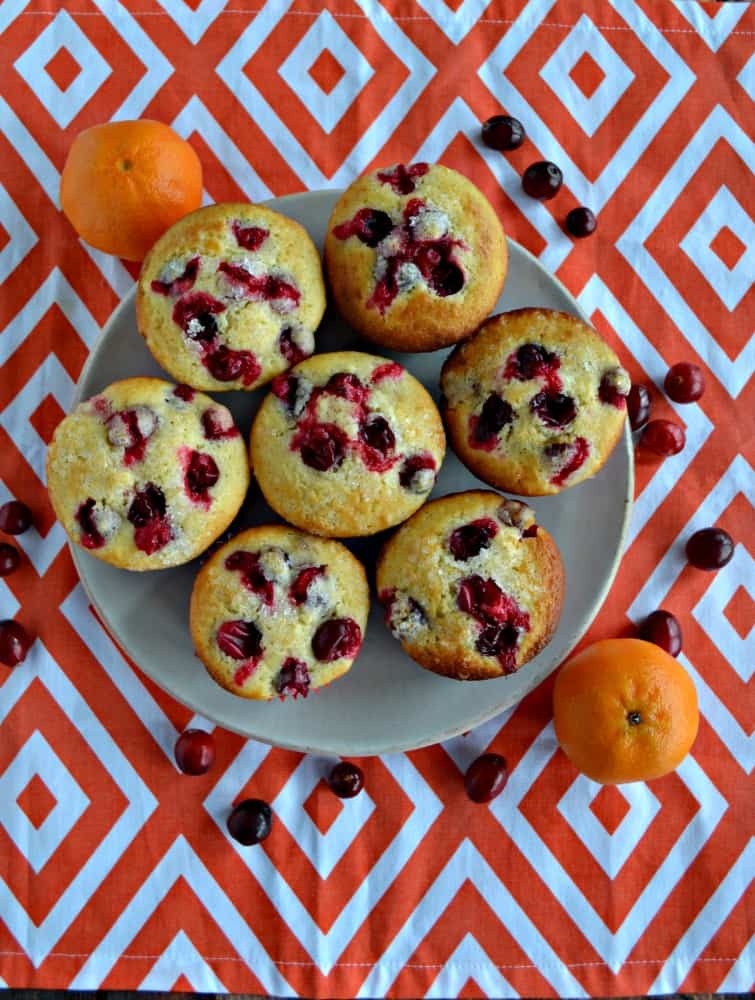 Looking for an easy snack on the go? Try these awesome Cranberry Clementine Muffins!
