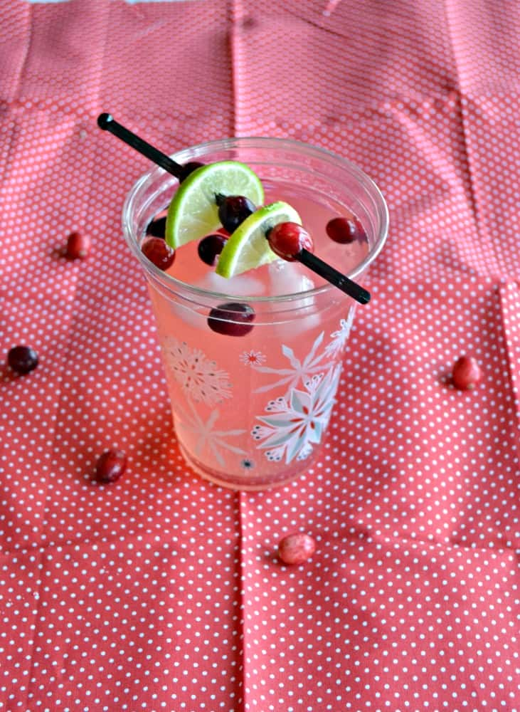 Love the sweet and tart combination in this Cranberry Moscow Mule