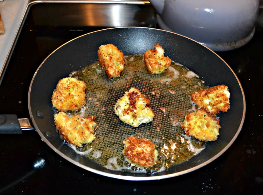 Fry up a batch of these delicious Parmesan Cauliflower Bites...your family will thank you!
