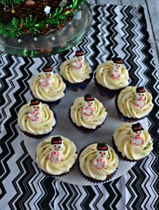 Gingerbread Cupcakes with Eggnog Frosting