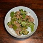 Lemon Garlic Pork and Broccoli Rice Bowl