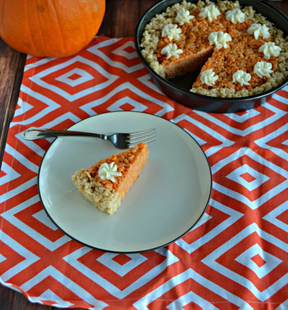 How fun is this Pumpkin Pie Rice Krispies Treat recipe?