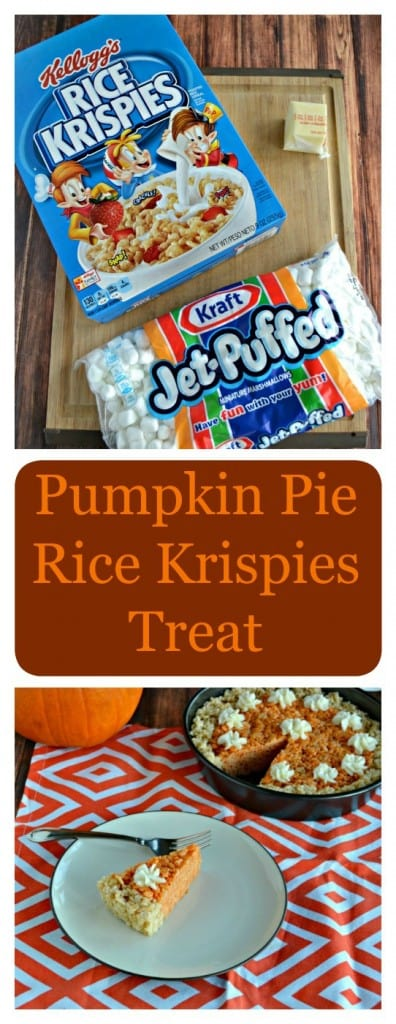 Need a fun holiday dessert? Try this awesome Pumpkin Pie Rice Krispies Treat recipe!
