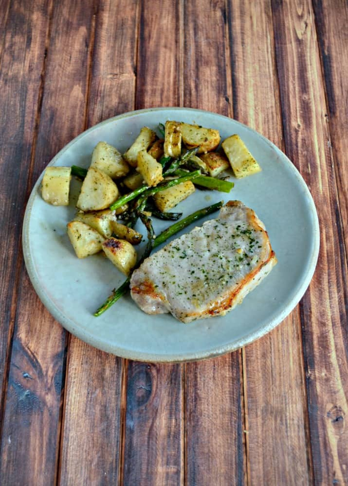 Looking for a tasty weeknight meal? Try this 30 minute Ranch Pork Sheet Pan Dinner