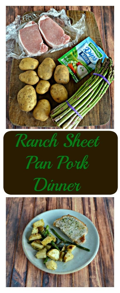 You'll love how tasty and easy this Ranch Pork Sheet Pan Supper is to make!