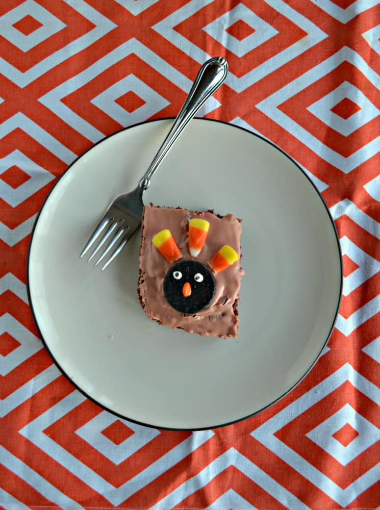Try these tasty and fun Turkey Brownies!
