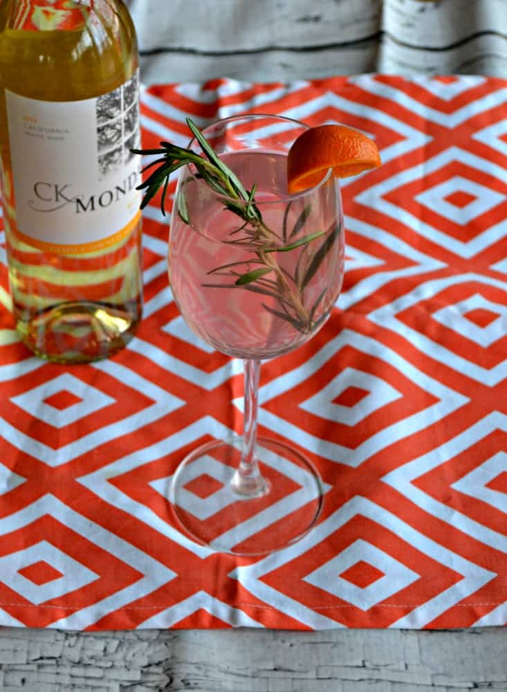 Having a party? Try this fun and pretty Rosemary and Blood Orange Sangria!
