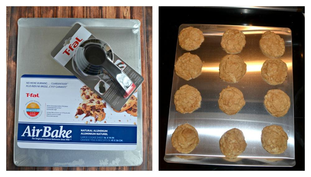 Bake up your cookies on a T-Fal AirBake cookie sheet!