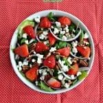 Strawberry Pecan Salad with Honey Balsamic Vinaigrette #SundaySupper #FLStrawberry