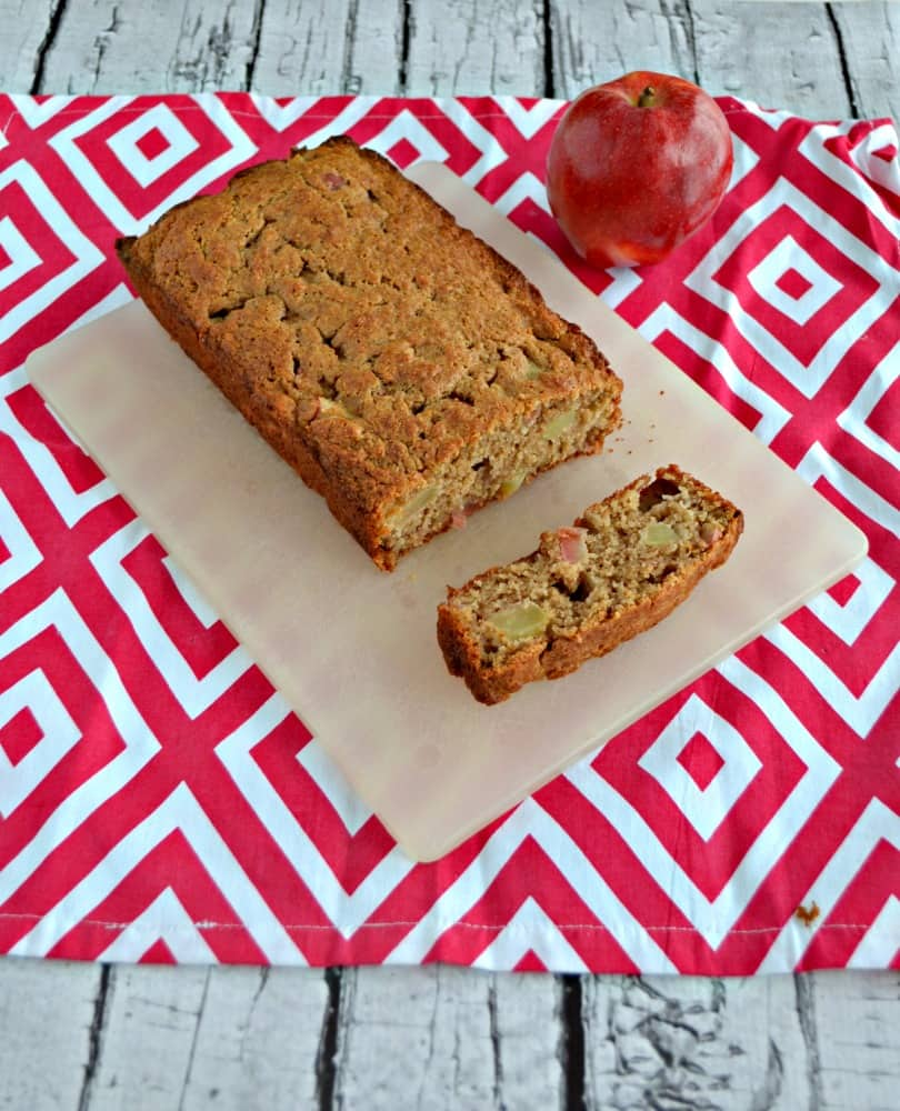 This Applesauce Spice Bread is a healthier version of traditional apple bread.