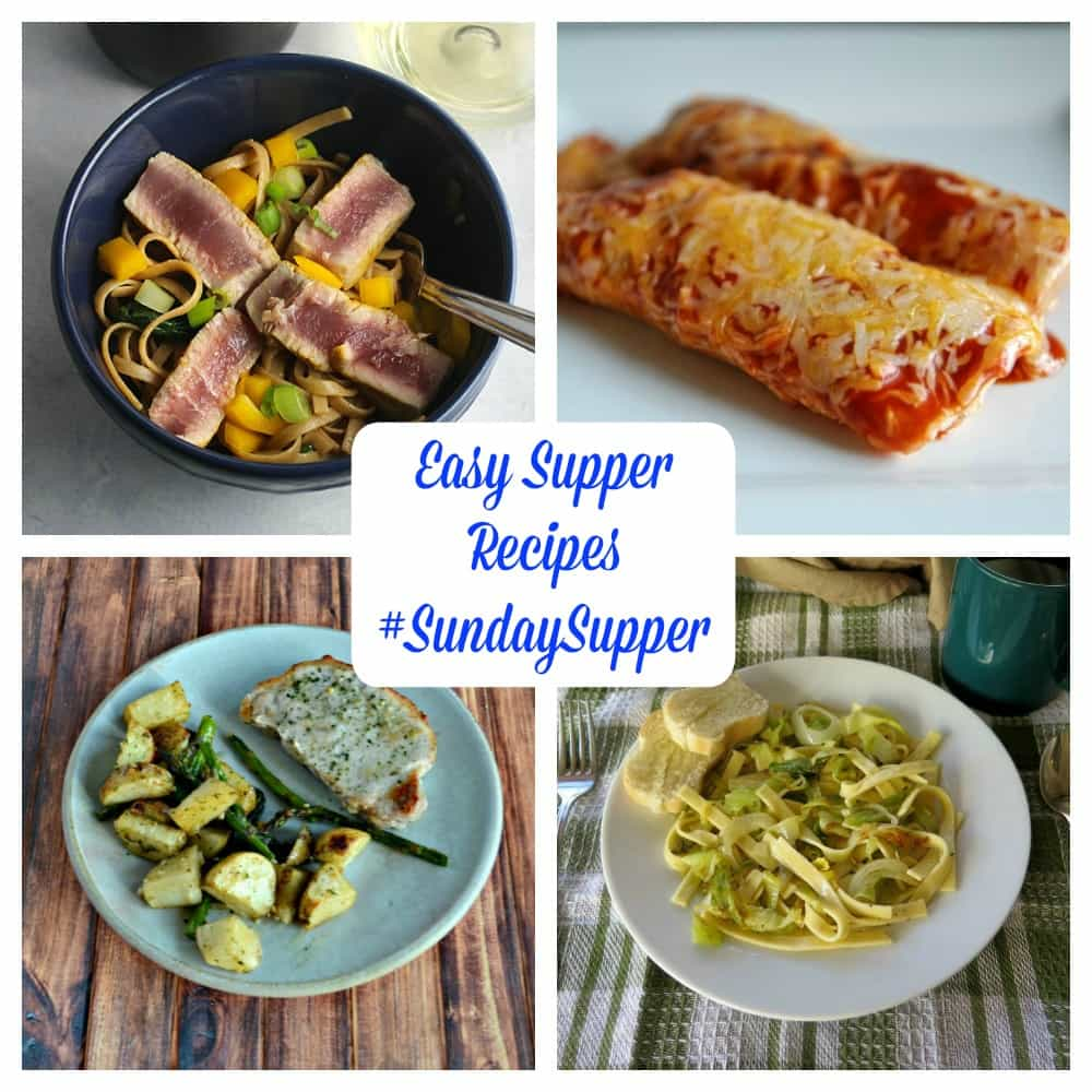 Check out this collection of Easy Supper Recipes #SundaySupper