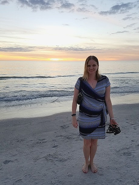 Enjoying a sunset at the Gulf...in January!