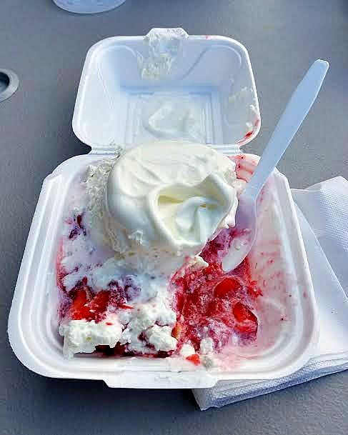 An amazing (and huge!) strawberry shortcake