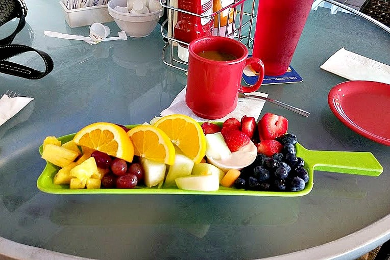 There's nothing like a fresh fruit platter on a January morning!