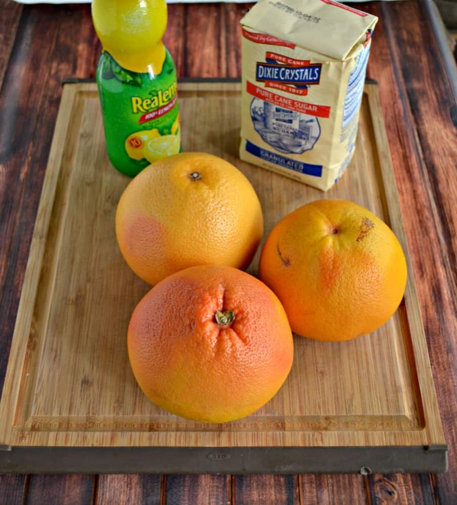 Everything you need to make a delicious sweet and tart Grapefruit Marmalade.