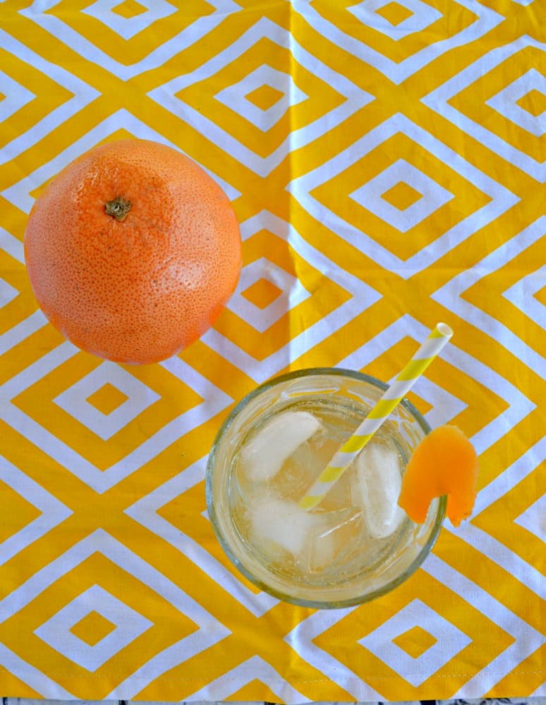 Sip on this delicious homemade Grapefruit Soda with no artifical colors, flavors, or caffeine!