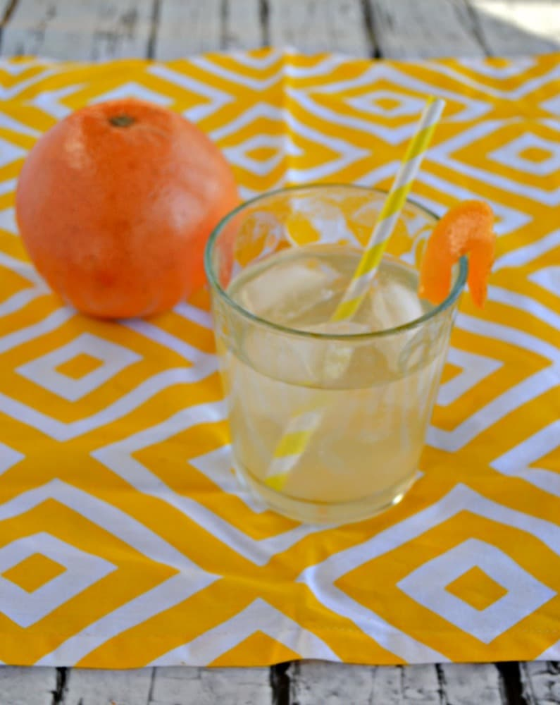 Sip on this tasty homemade Grapefruit Soda for a refreshing beverage