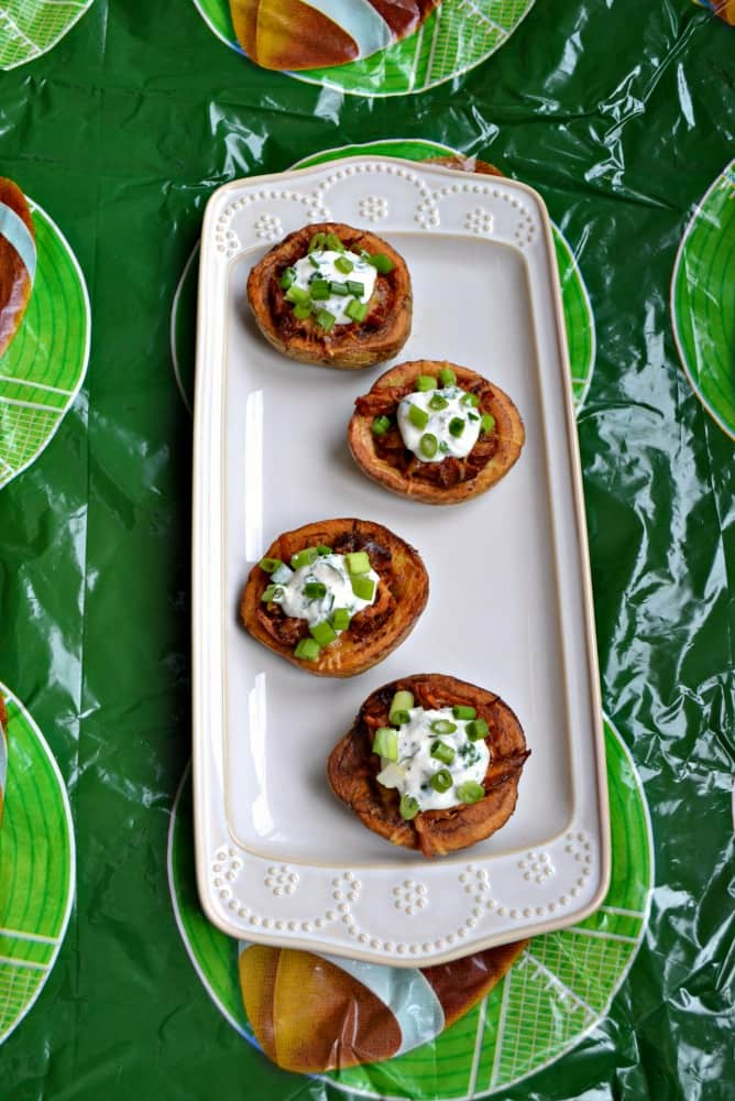 Get ready for Game Day with these delicious Pulled Pork Idaho Potato Skins!