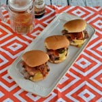 Pepper Crusted Ribeye Sliders with Cheddar Beer Sauce
