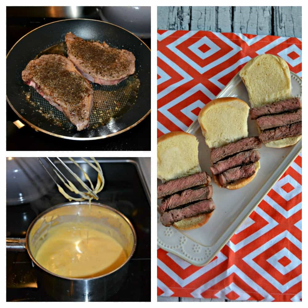 It takes just a few easy steps to make these Ribeye Sliders with Beer Cheese Sauce