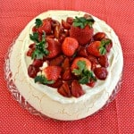 Roasted Strawberry Pavlova with Lemon Cream #SundaySupper #FLStrawberry