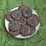 Easy 5 Ingredient Chocolate Mint Cookies #StPatricksDay