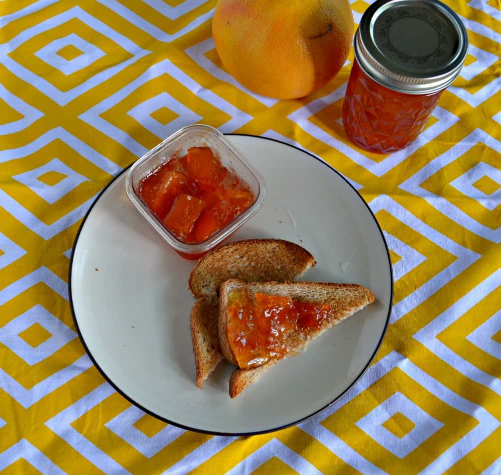 Love this sweet and tart Grapefruit Marmalade on my toast in the morning to brighten my day.