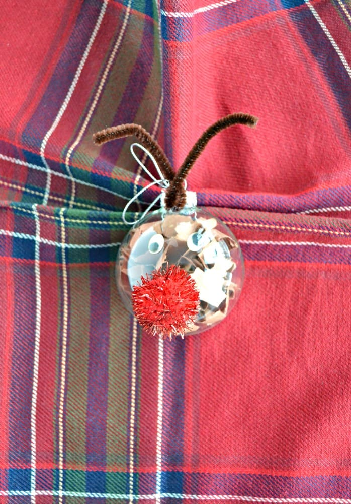 Make this cute and easy DIY Reindeer Ornament!