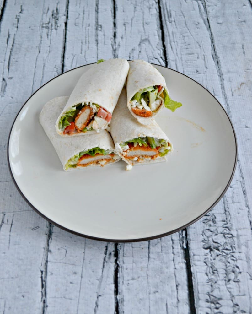 Looking for an easy lunch or dinner recipe? Try these tasty Buffalo Chicken Wraps!