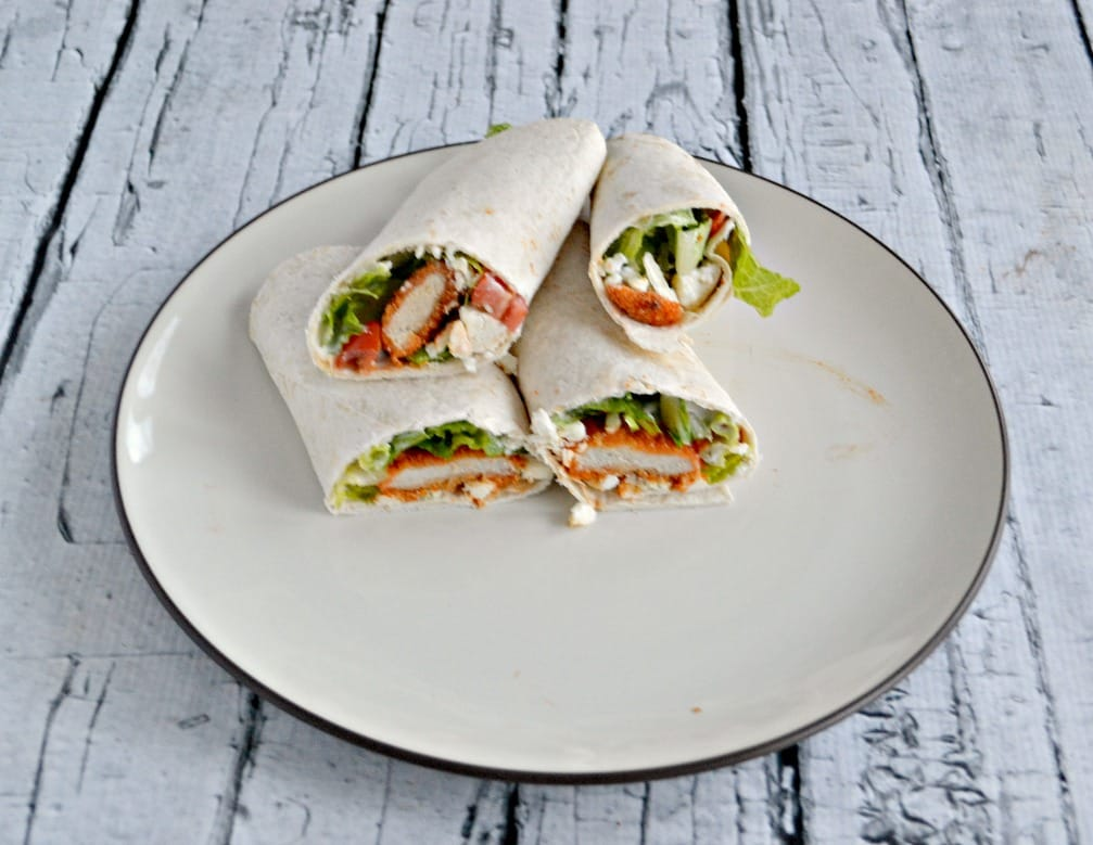These easy and delicious Buffalo Chicken Wraps are perfect for lunch or dinner!