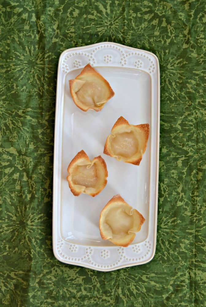 Make edible cups out of wonton cups!