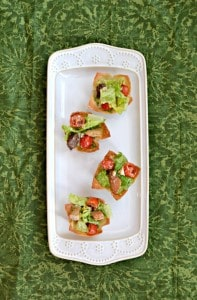 Love these Caesar Salad Wonton Cups as a pick up and go appetizer!