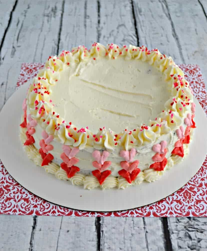 How fun is this Chocolate Heart Ombre Cake? It's easy to decorate but looks amazing!