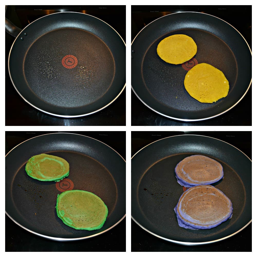 It's easy to make King Cake Pancakes!