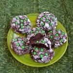 Thin Mint Stuffed Cookies