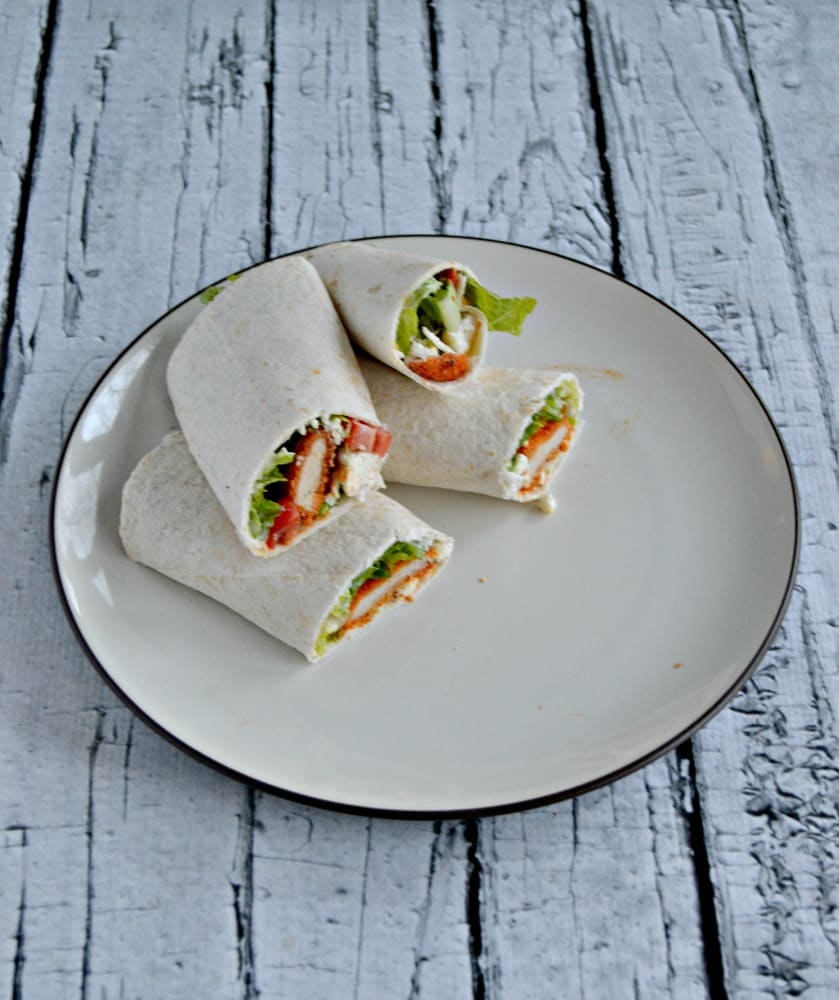 Buffalo Chicken Wraps are easy to make and delicious!