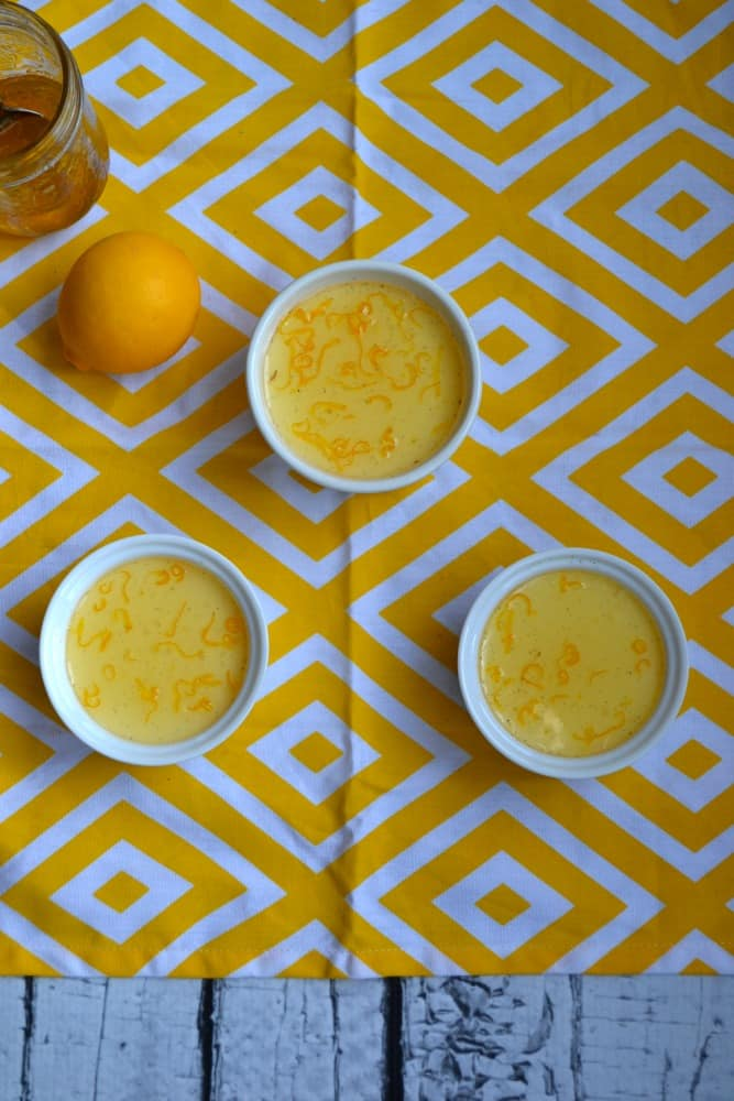 Love the tart Meyer Lemon glaze on top of this smooth and sweet Panna Cotta!