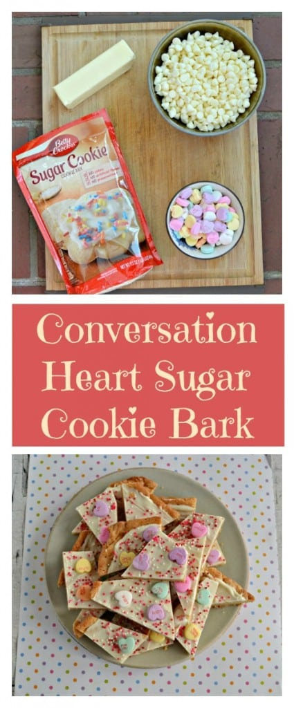 Conversation Heart Sugar Cookie Bark is a fun and easy Valentine's Day treay!