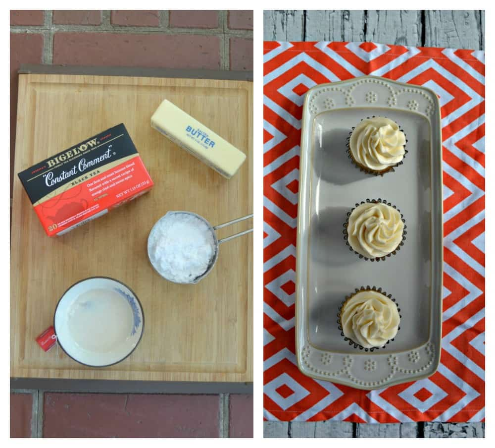 Everything you need to make a tasty Orange Frosting to go with my Vanilla Chai Cupcakes