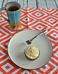 Vanilla Chai Cupcakes with Orange Frosting