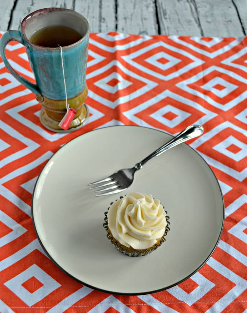 Looking for a sweet to go along with tea time? Try my Vanilla Chai Cupcakes with Orange Frosting!