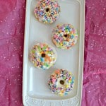 Love donuts but hate the calories? Try these Baked Vanilla Donuts with a Vanilla Glaze and Sprinkles for a healthier donut!