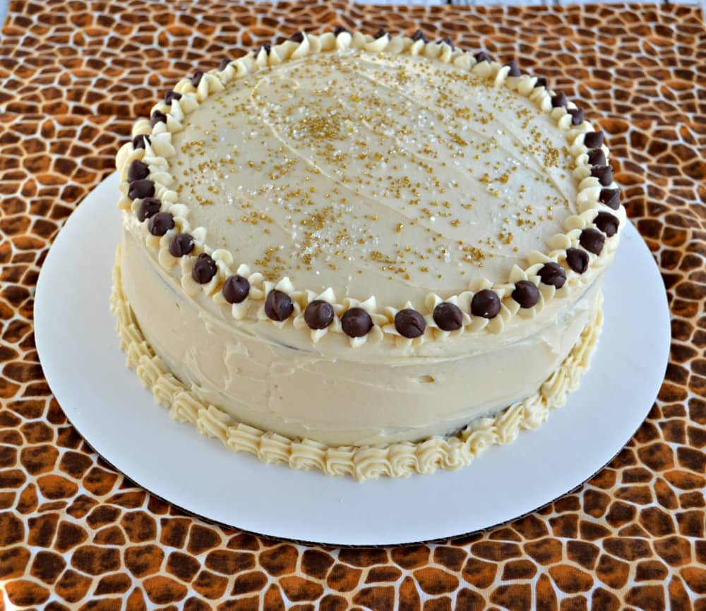 You'll want to dig right in to this amazing Chocola Mocha Cake with Salted Caramel Frosting!